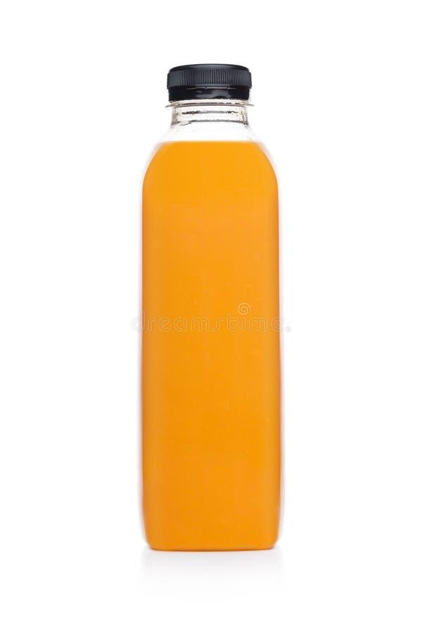 Flaska av den sunda smoothien för orange fruktsaft för frukt arkivfoton
