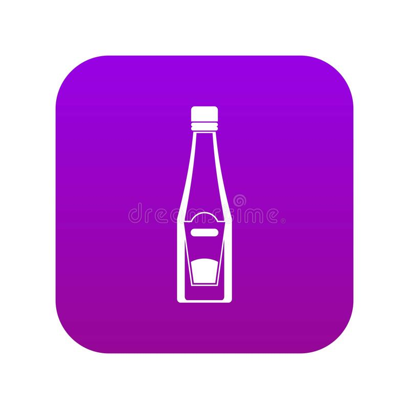 Flaska av digitala lilor för ketchupsymbol vektor illustrationer