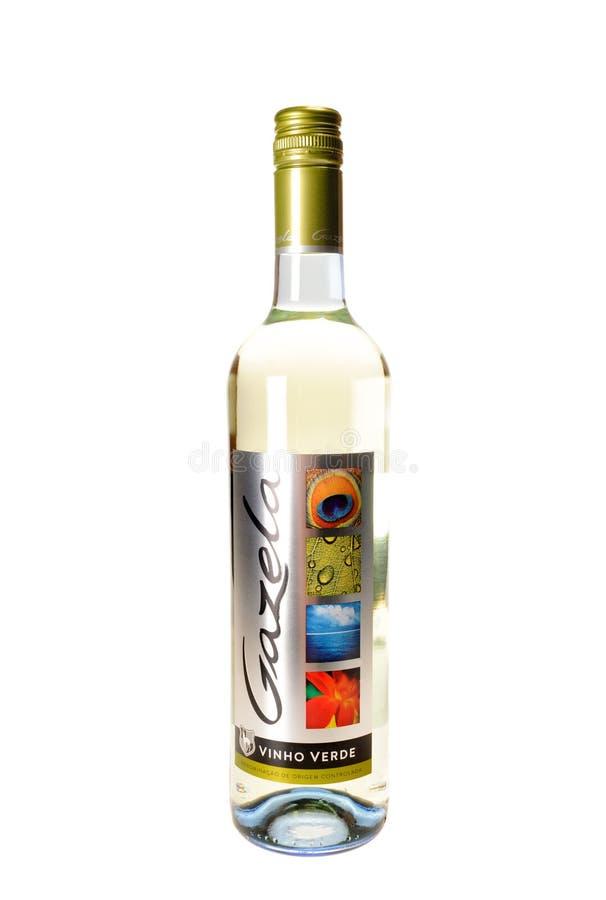 Flaska av `-Gazela ` ett Vihno Verde vin royaltyfri foto