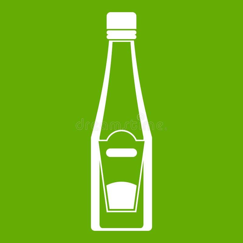 Flaska av ketchupsymbolsgräsplan stock illustrationer