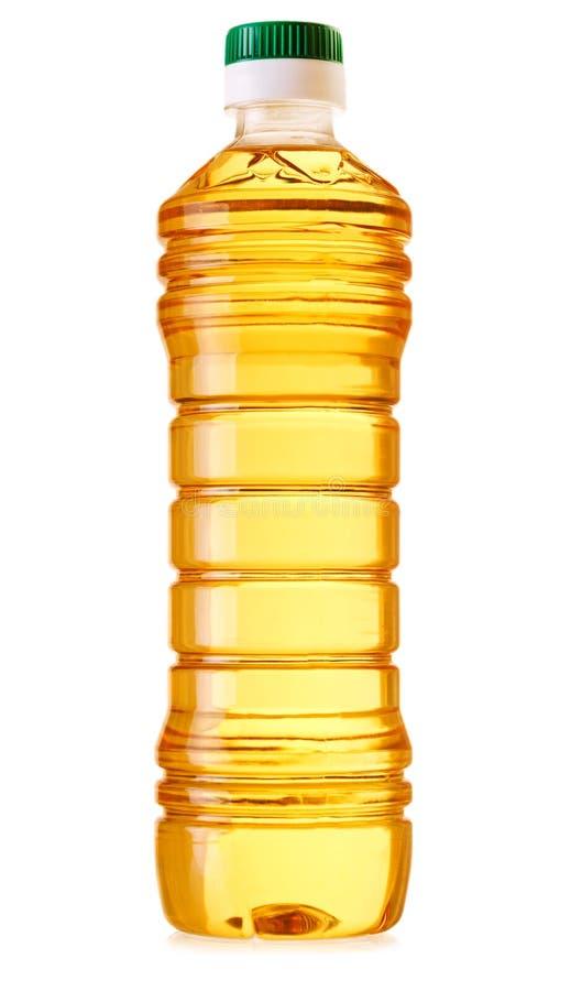 Flaska av matolja som isoleras på vit bakgrund royaltyfria bilder