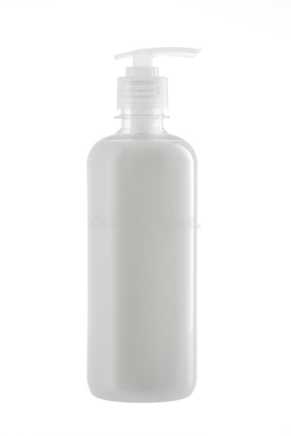 Flaska av naturlig vätsketvål som isoleras på vit bakgrund fotografering för bildbyråer