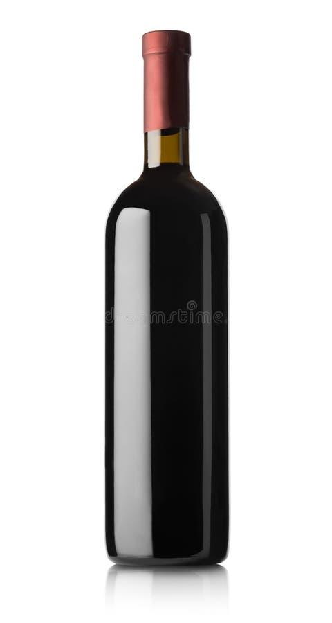 Flaska av rött vin royaltyfria foton