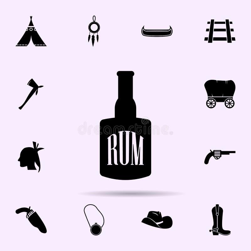 Flaska av romsymbolen universell upps?ttning f?r l?sa v?stra materiella symboler f?r reng?ringsduk och mobil stock illustrationer