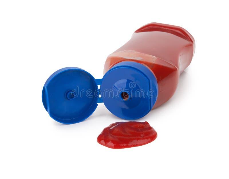 Flaska av tomatsås arkivfoto