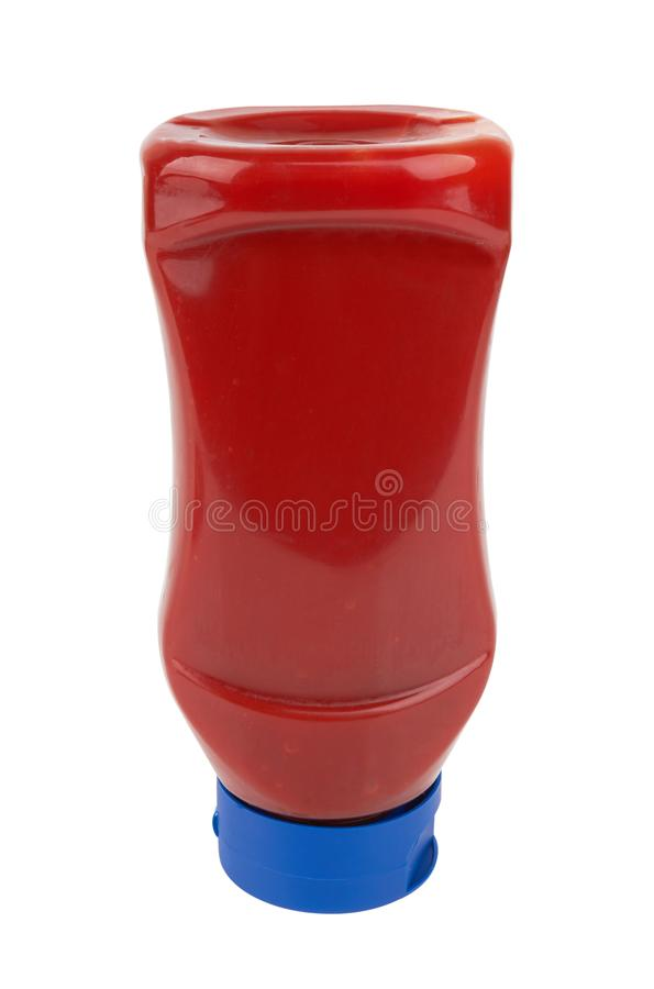 Flaska av tomatsås royaltyfria foton