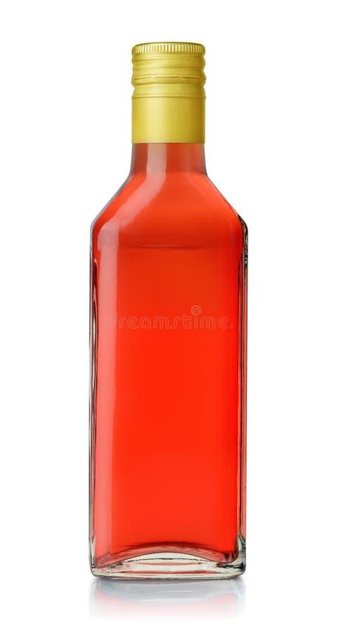 Flaska av vinäger för röd druva fotografering för bildbyråer