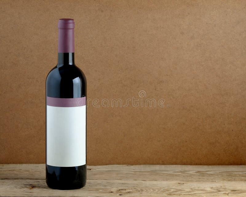Flaska av vin royaltyfri bild