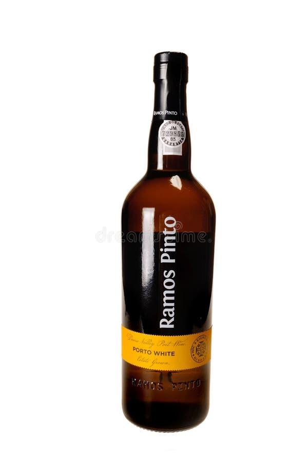 Flaska av vin för port för Ramo Pinto vitt royaltyfri foto