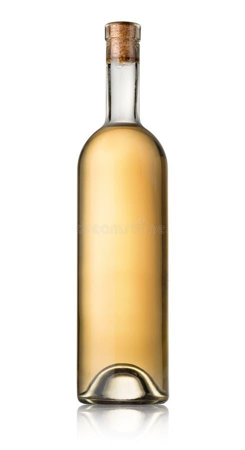 Flaska av vitt vin royaltyfri foto