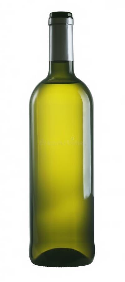 Flaska av vitt vin arkivbild