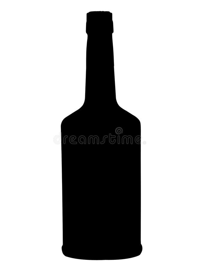 Flaska av whisky arkivfoto