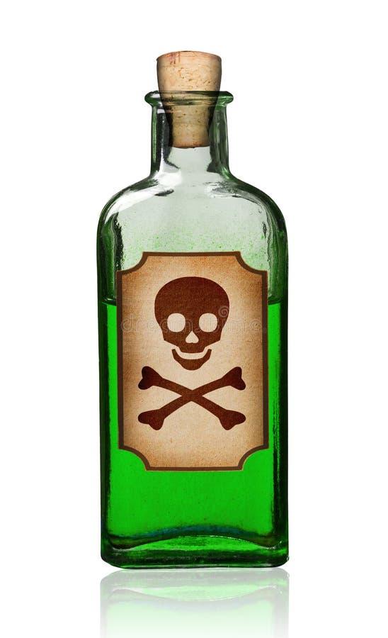 flaska danat gammalt gift för etikett arkivfoton
