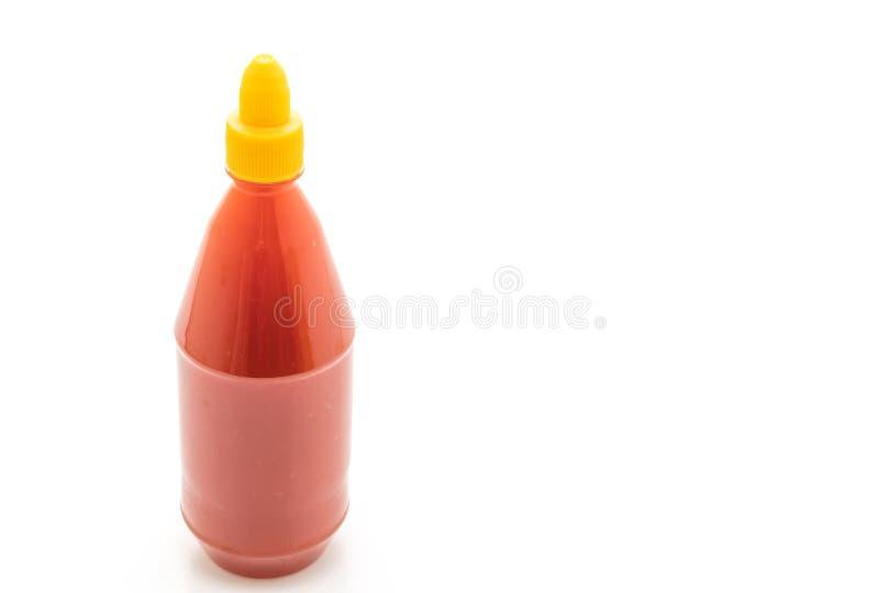 flaska för chilisås fotografering för bildbyråer