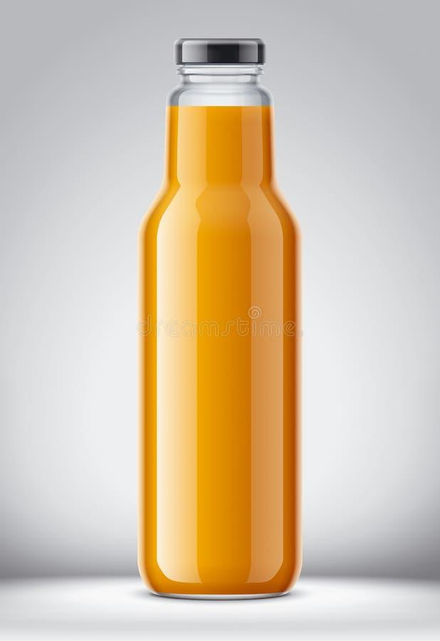 Flaska för fruktsaft vektor illustrationer