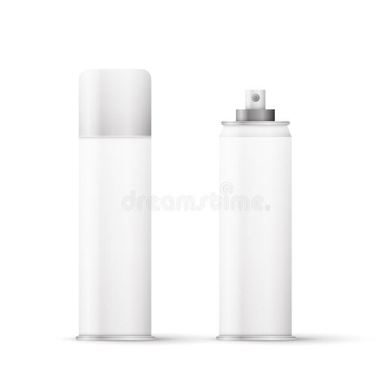Flaska för vit metall stock illustrationer