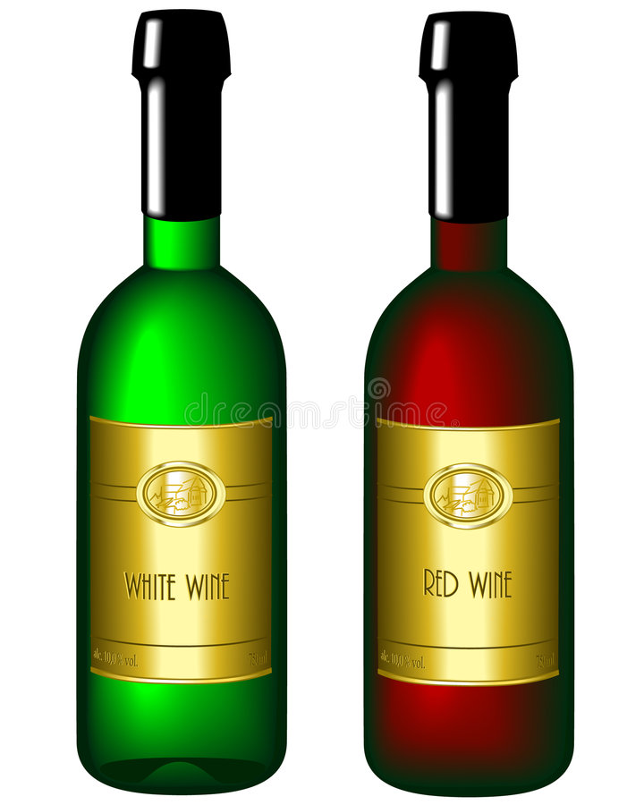 flaska illustrerad wine stock illustrationer