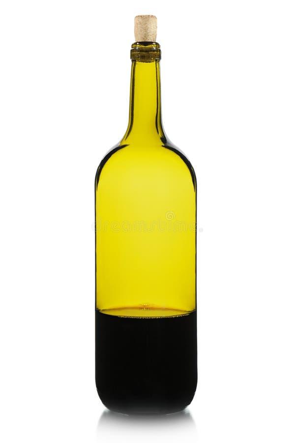 flaska isolerad vit wine arkivfoton