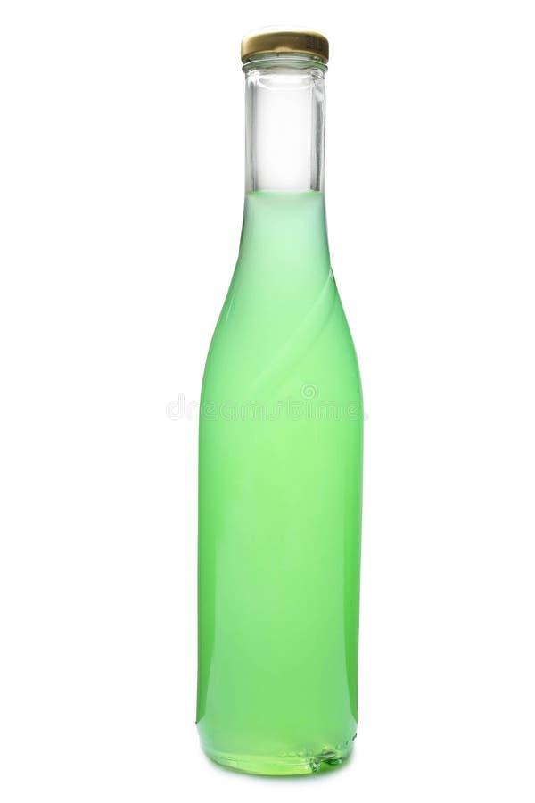 Flaska med grönt öl arkivbild