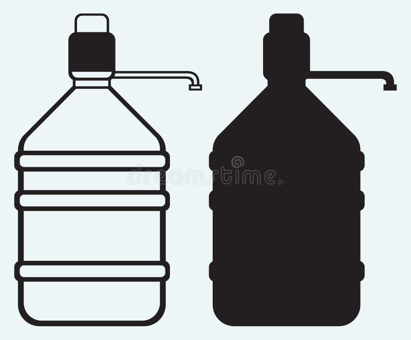Flaska med rent vatten royaltyfri illustrationer
