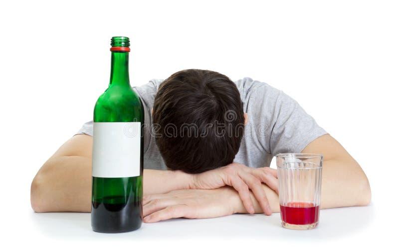 Flaska med vin arkivfoto
