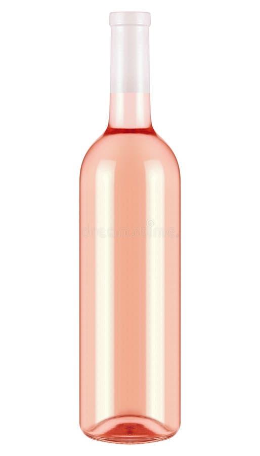 Flaska med vin som isoleras på vit fotografering för bildbyråer
