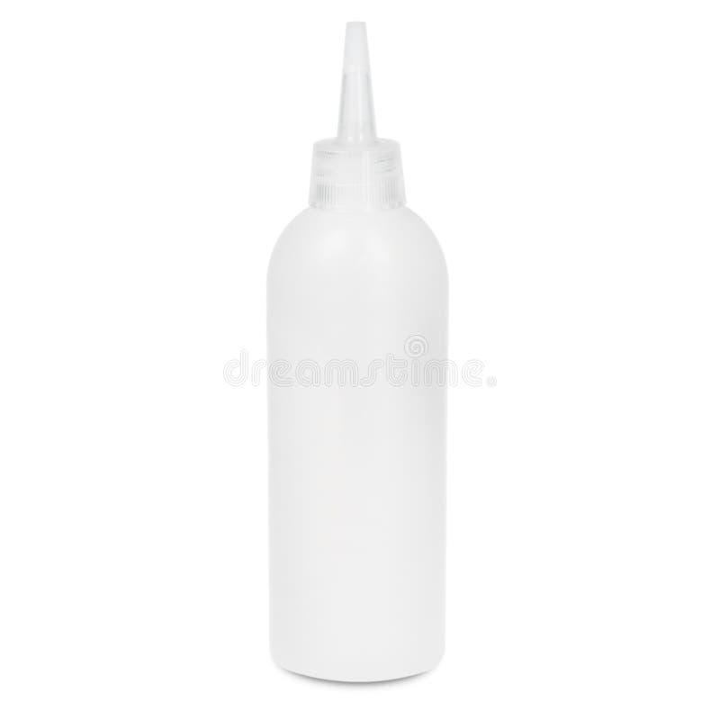 Flaska på vit backgroun vektor illustrationer