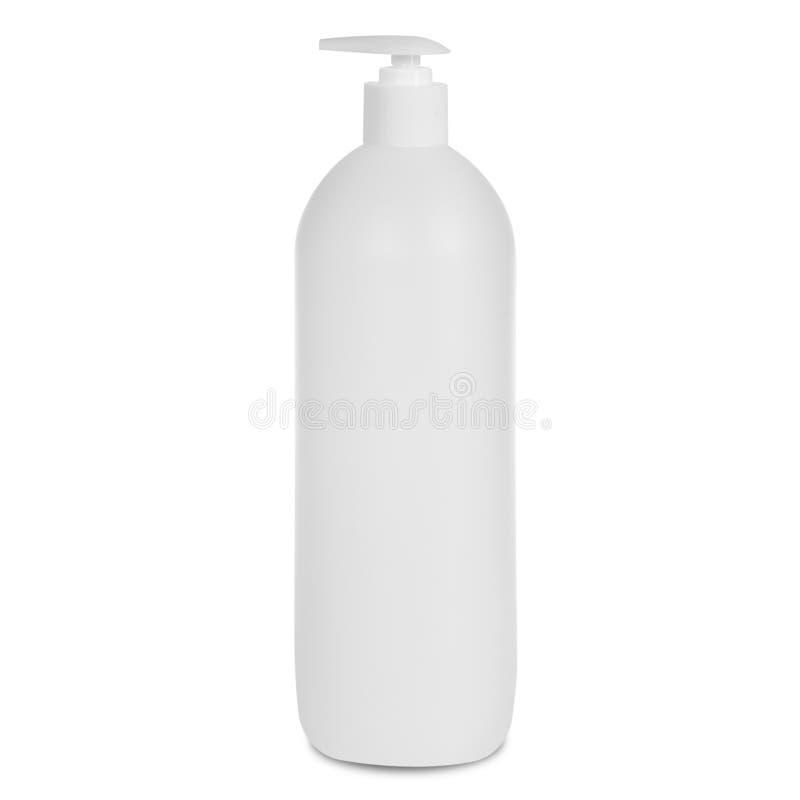 Flaska på vit backgroun stock illustrationer