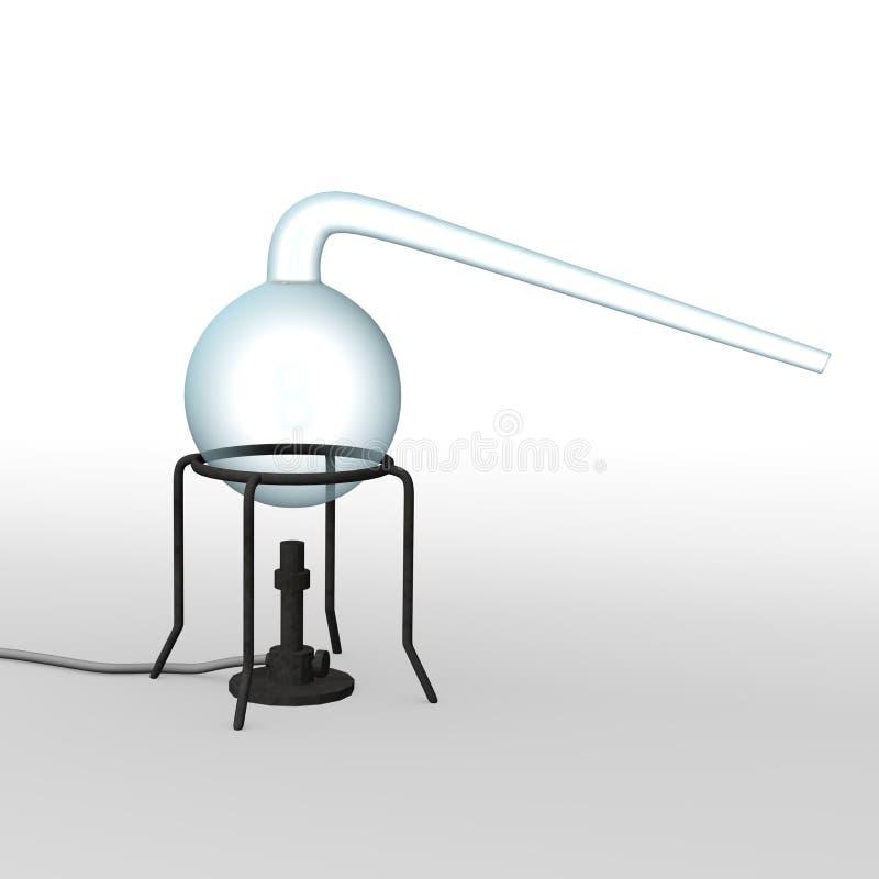 flaskalaboratorium vektor illustrationer