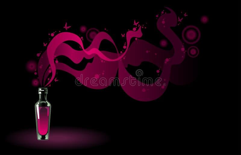 flaskamagidryck stock illustrationer