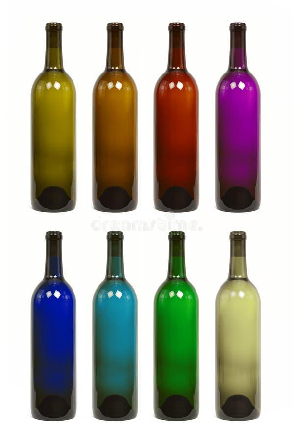 flaskan colors olik wine arkivbild
