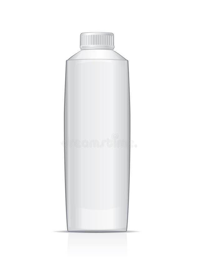 flaskan mjölkar vektor illustrationer
