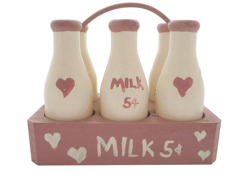 flaskan mjölkar royaltyfria foton