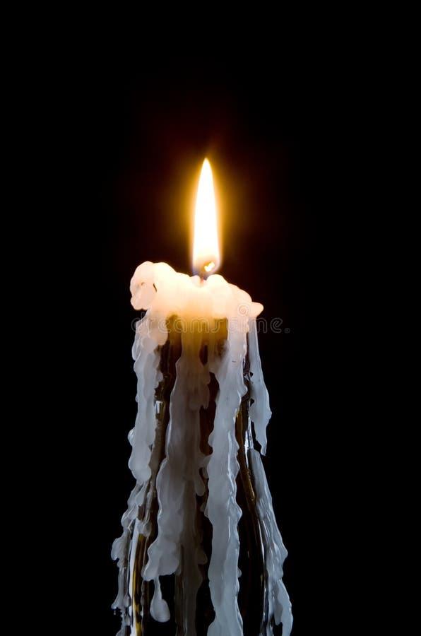 flaskbrännskadastearinljus fotografering för bildbyråer