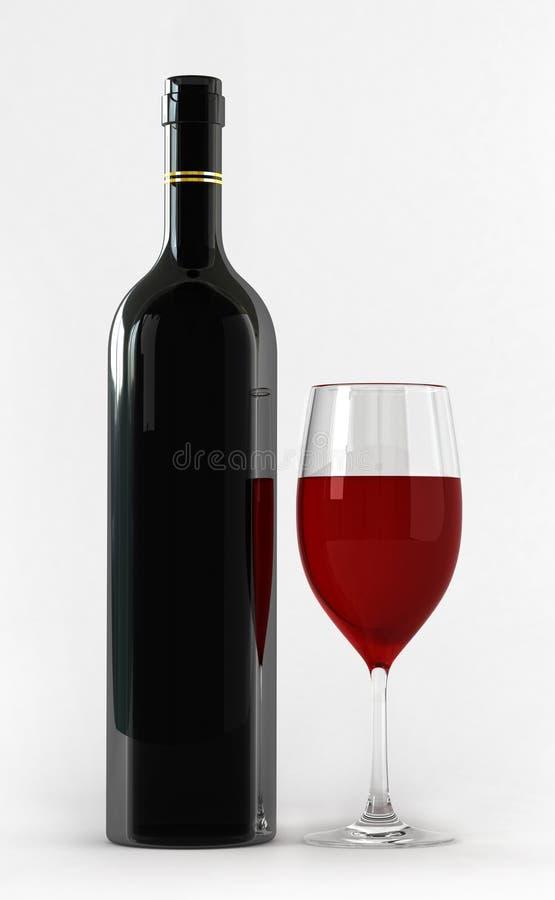 flaskexponeringsglas stock illustrationer