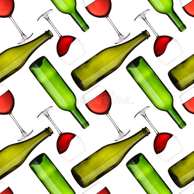 flaskexponeringsglas mönsan seamless royaltyfri illustrationer