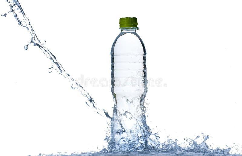 flaskfärgstänkvatten royaltyfria bilder