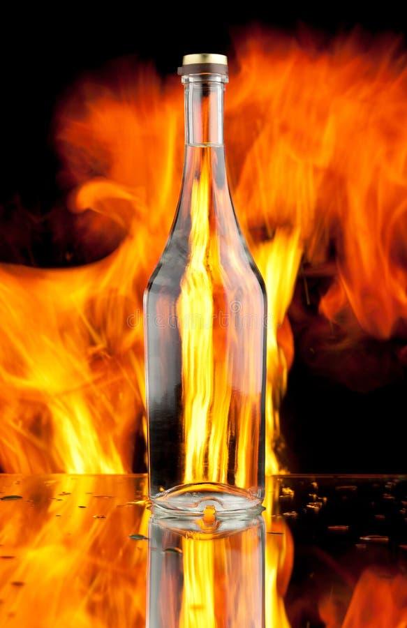 flaskflammaexponeringsglas royaltyfria bilder