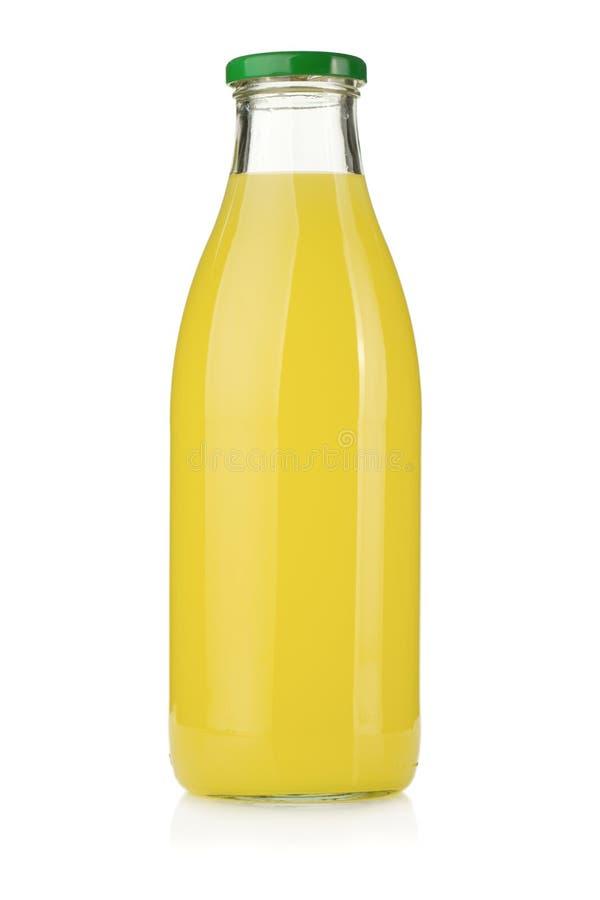 flaskfruktsaftcitron royaltyfri foto