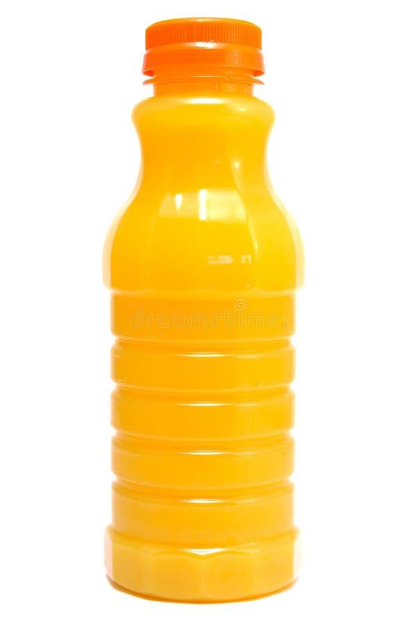 flaskfruktsaftorange arkivbilder