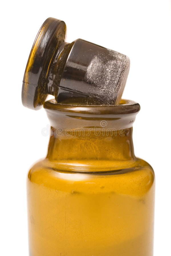 flaskkemikalietappning royaltyfri bild
