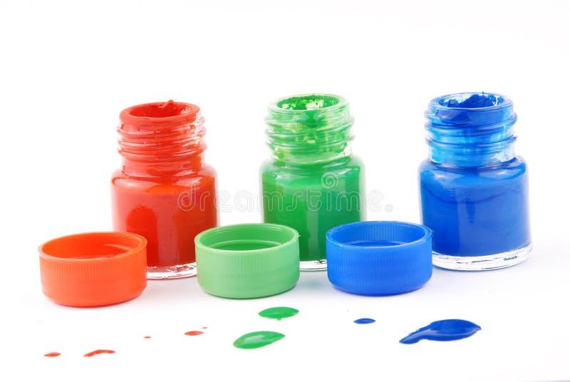 flaskmålarfärg arkivbild