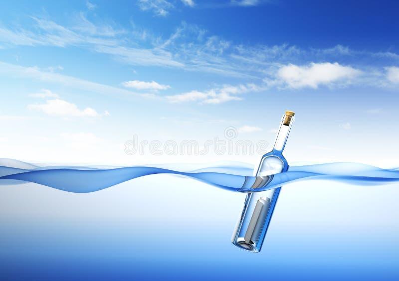 flaskmeddelande vektor illustrationer