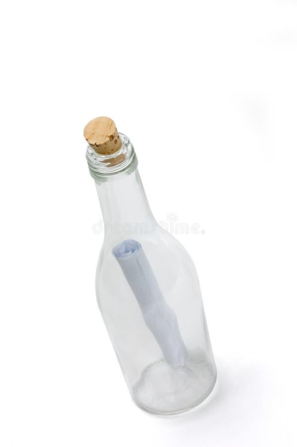 flaskmeddelande arkivfoto