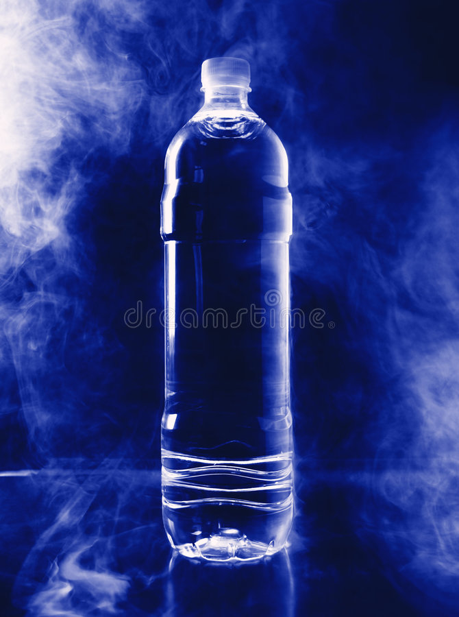 flaskmiljörök royaltyfri foto