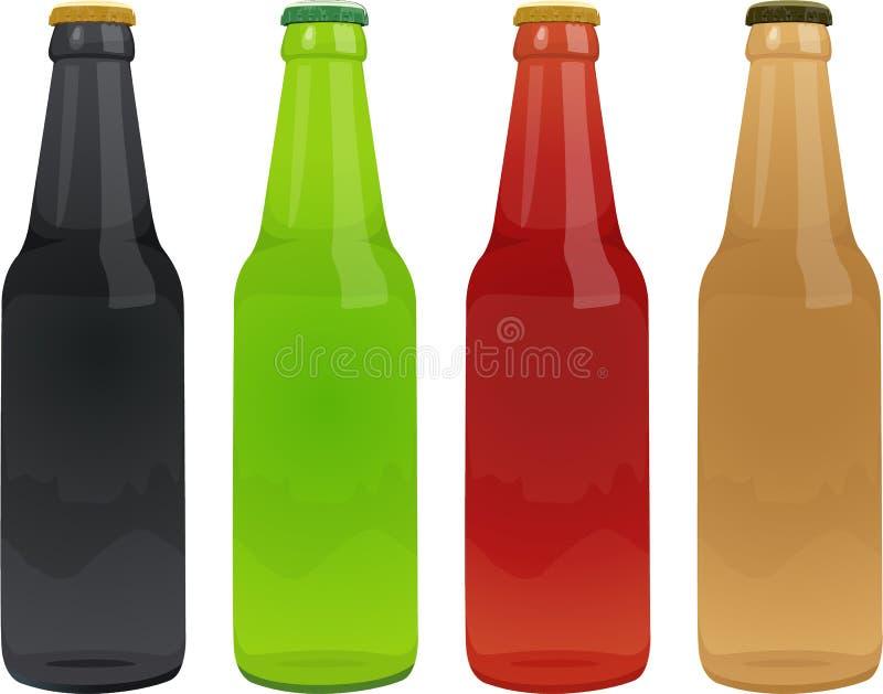 flaskor vektor illustrationer