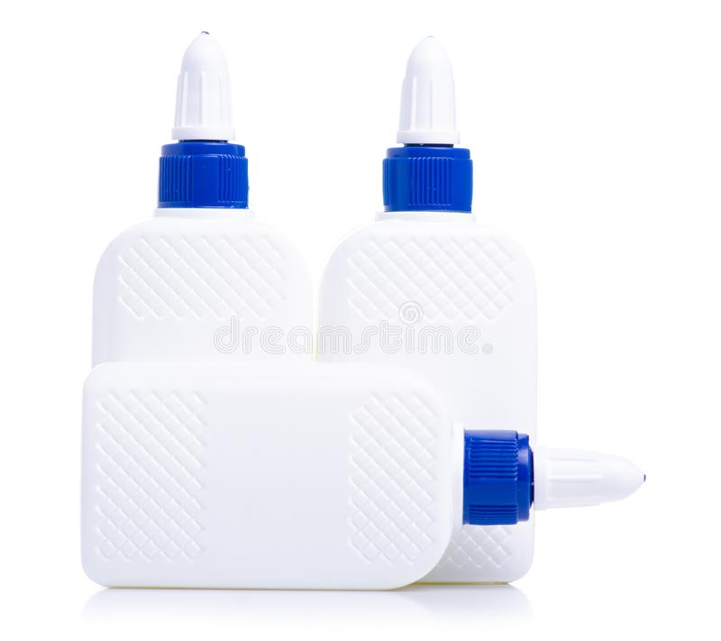 Flaskor av lim arkivbild