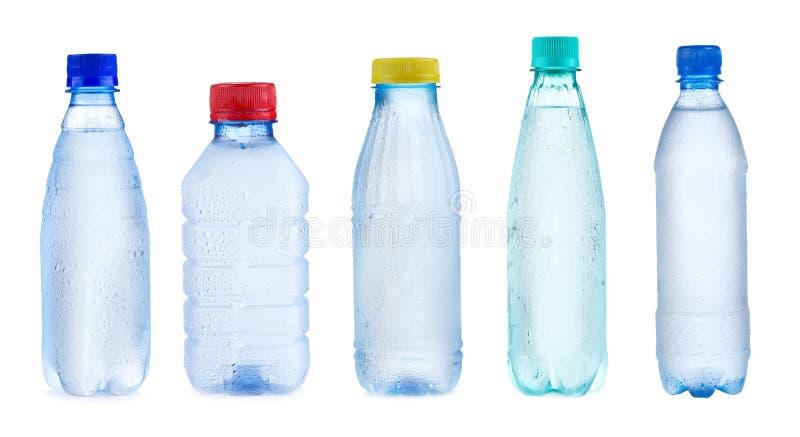 flaskor inställt vatten royaltyfria bilder