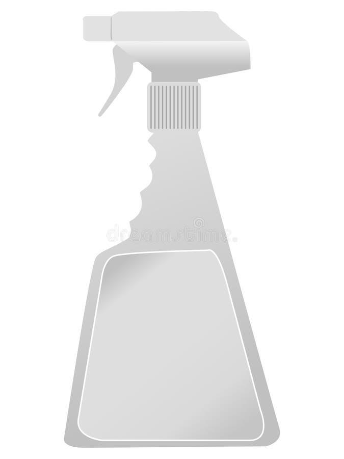 flaskplast-spray royaltyfri illustrationer
