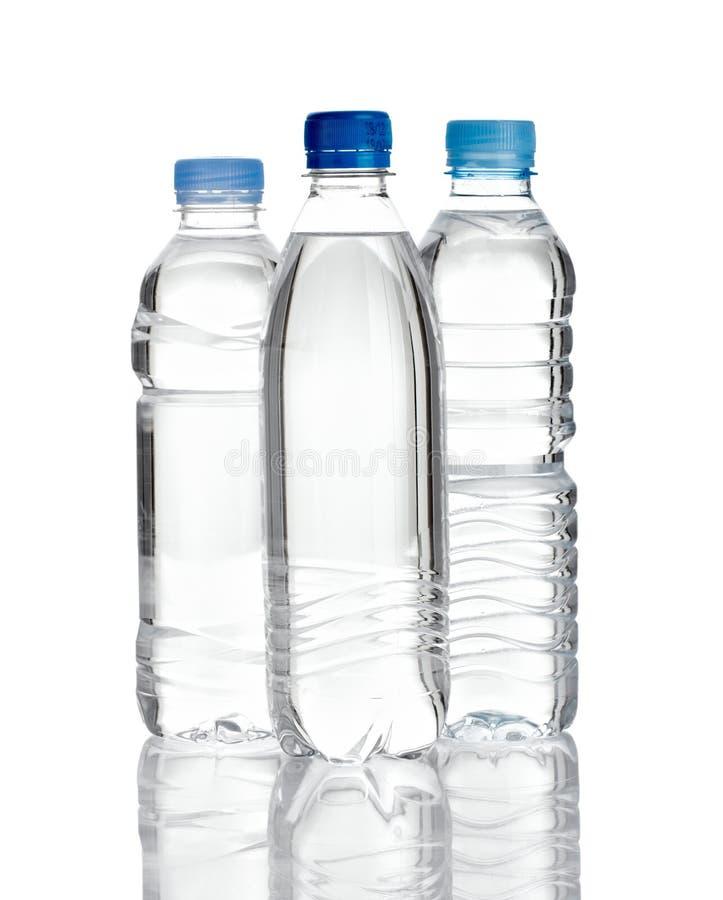 flaskplast-vatten arkivbilder